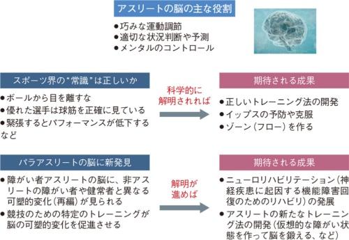 図1 アスリートの脳の解明に挑む