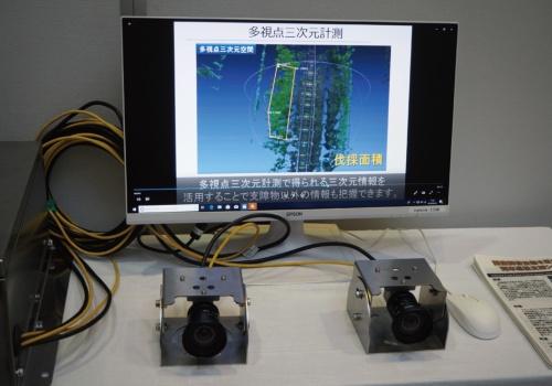 図2 「画像解析技術を活用した列車巡視支援システム」の展示