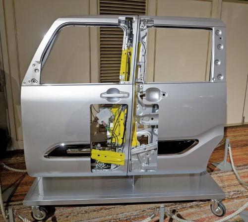図2 新型「タント」のドア骨格