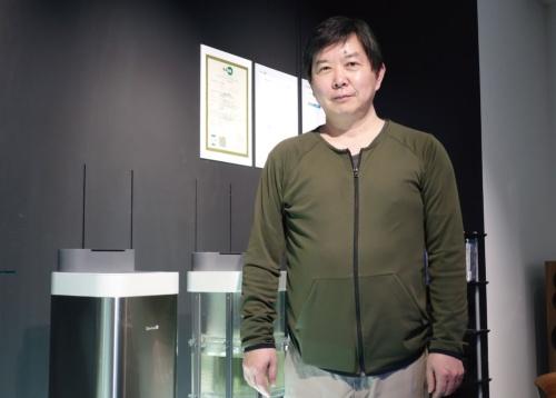図2 空間除菌代表取締役の森久康彦氏