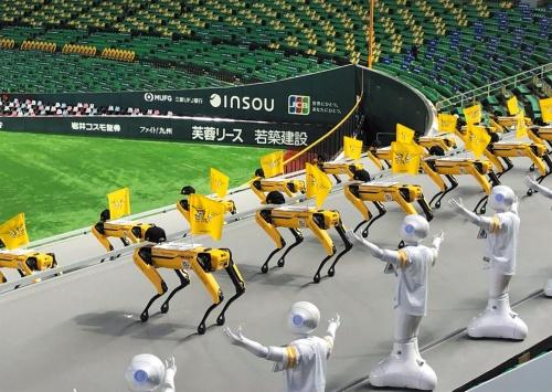 図1 ダンスを披露する4脚ロボット「Spot」
