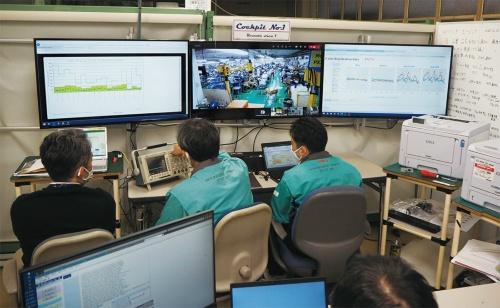 図1 OKIデータ高崎事業所の「コックピット」