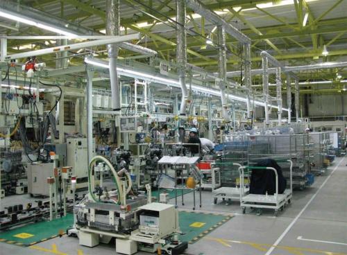 図1 トヨタ自動車の工場