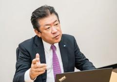 たけもと・あつお:2021年6月にコニカミノルタの顧問を退任。タムラテコの支援に乗り出した当時は、執行役兼生産・調達本部長を務めていた。(出所:コニカミノルタ)