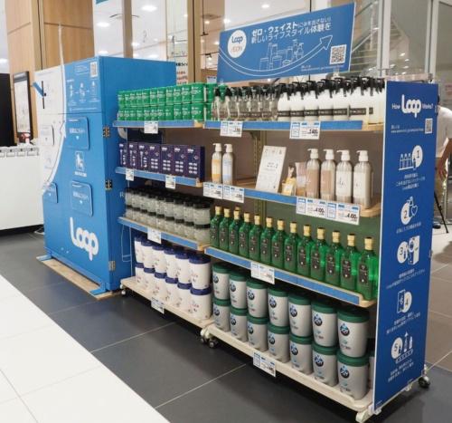 図1 イオンの店舗に並ぶLoop商品