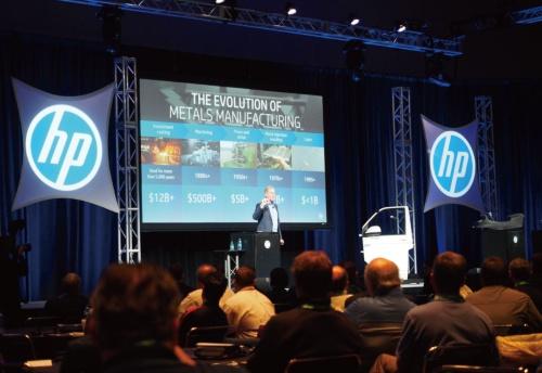 図1 新製品「HP Metal Jet」について語る米HPの3Dプリンティングビジネス担当プレジデントのStephen Nigro氏