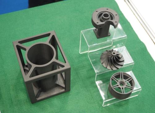 図1 伸和精工が3Dプリンターによる高強度の造形品を出展