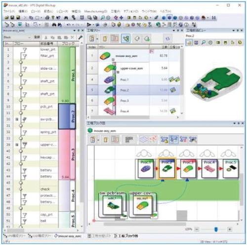 図1 「VPS V15L21」のBOP作成機能の画面