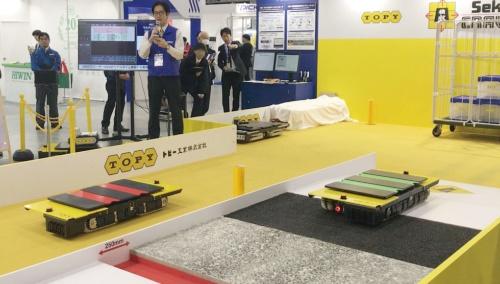 図1 「2019国際ロボット展」のトピー工業ブースでの実演