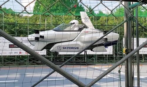 図1 新型機「SD-03」による有人飛行試験の様子