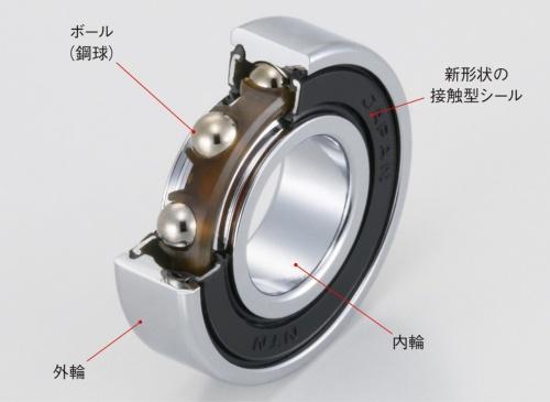 図1 サーボモーター用低発塵軸受