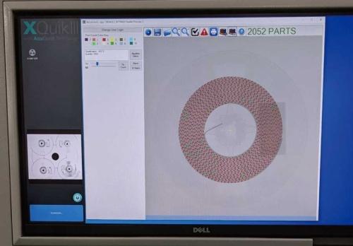 図2 リール内の部品をX線で捉えた画像