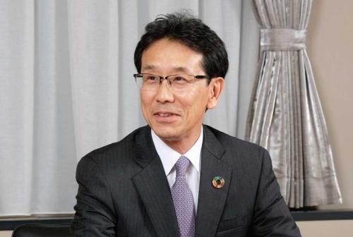 図1 コマツ代表取締役社長兼CEOの小川啓之氏