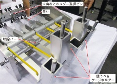 図3 ロック機構(説明用の模型)の仕掛け