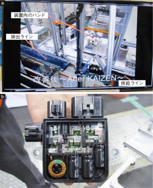 図2 ファンコントロールモジュール(FCM)の生産ライン