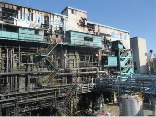 図1 事故のあった印刷インキ用樹脂製造棟