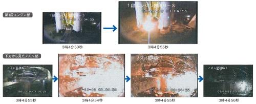 図2 2019年9月11日午前3時過ぎにH-IIBロケット8号機で発生した火災の状況