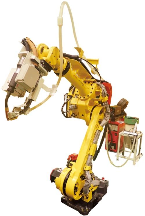 図1 新しい自動異種材料接合システムに使うロボット