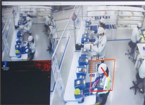 図3 パナソニック草津工場のモーションセンサー・システム