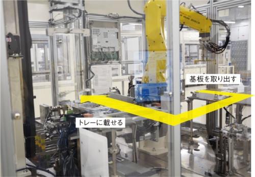 図2 TDK鶴岡東工場の薄膜コイルのめっき前工程を自動化する装置