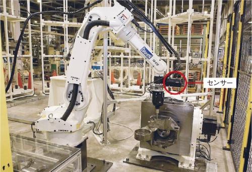 図2 ロボットが鋳物を加工