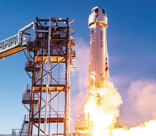 図1 ブルーオリジンのロケット「ニューシェパード」