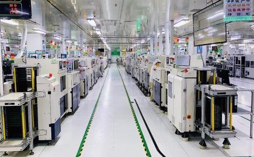 図1 UMCエレクトロニクス東莞工場のPCB実装ライン