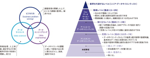 図1 データサイエンティストに必要な能力とスキルのレベル