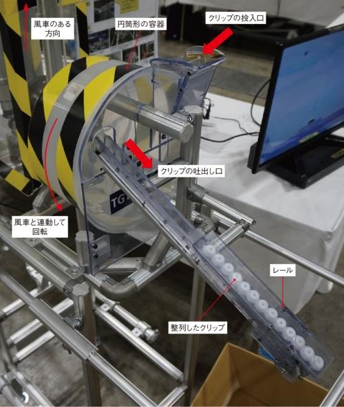 図4 豊田合成タイランドが出展した「風車フィーダー」