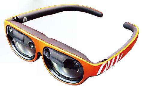 図2 中国エンリアル(Nreal)が出展した眼鏡型ARグラス「Nreal Light」