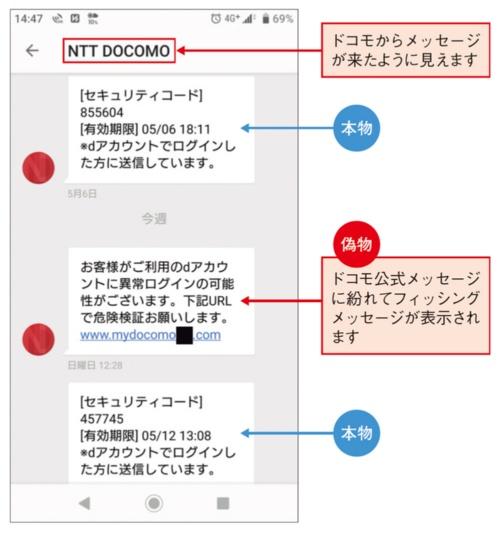 図4●偽メッセージの具体例を公表
