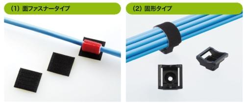 写真2-4●面ファスナー用の固定具