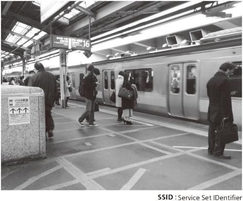 図1●JR新宿駅でSSIDの数を測定