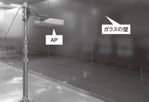 図3●ガラスの壁を挟んで測定
