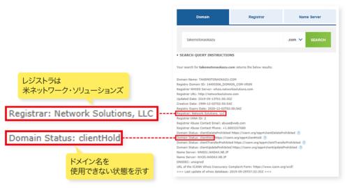 図2-2●takemotonaokazu.comのWHOIS情報