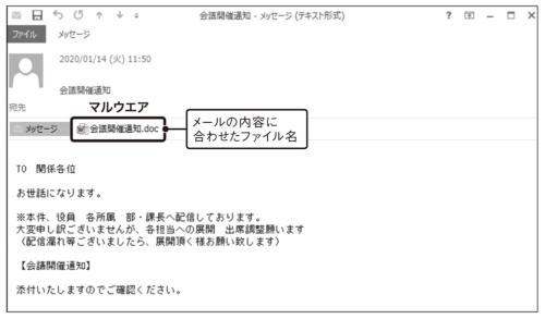 図2●会議のファイルに見せかけたファイル名の偽装例
