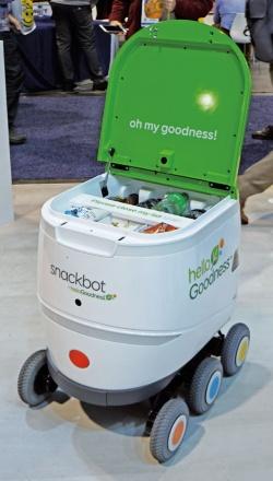 図1 スナックや飲料の配達ロボット「Snackbot」