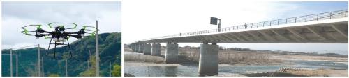 図1 新型ドローンで大型橋梁の点検を受注