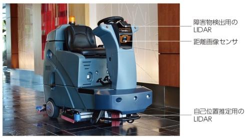 図1 BrainOSを搭載した床洗浄機(スクラバー)