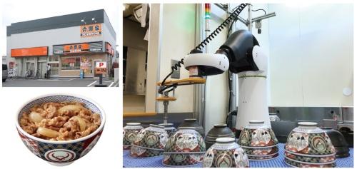 図1 厨房でロボットが稼働する足立保木間店
