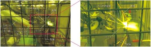 図1 空調機器の配管の接合工程にロボットを導入