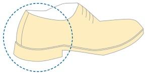 図1 靴のかかとの部分の縫製にロボットを導入