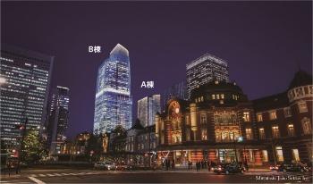 図1 東京駅前常盤橋プロジェクトの全体開業時の街区全体イメージパース