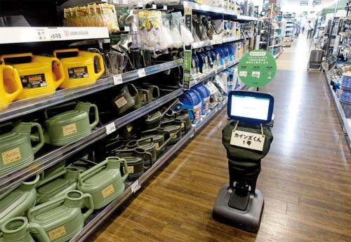 図1 ホームセンターのカインズが売り場案内向けにロボットを導入