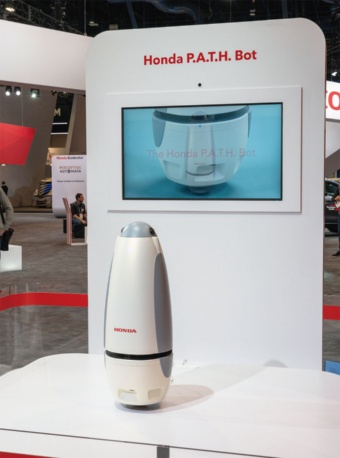 図1 CES 2019に展示した「Honda P.A.T.H. Bot」