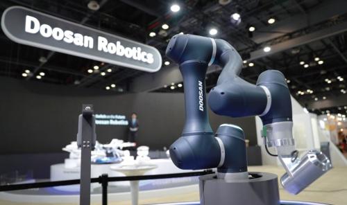 図1 Doosan Robotics社が韓国産業大展に出展