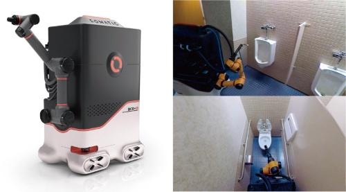 図1 Somatic社のトイレ掃除ロボットの概観