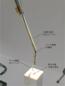 図1 ソニーが開発したバイラテラル遠隔操作システムのスレーブ側の外観