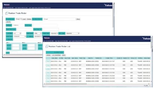 図1●みずほ銀行が開発した外国為替予約システムの画面(テスト段階の画面)