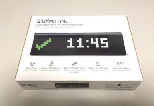 写真1●LaMetric Timeのパッケージ